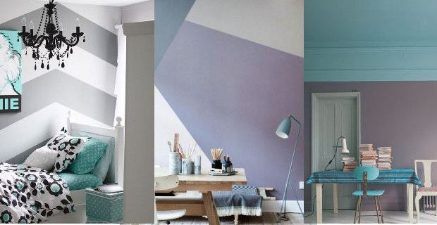 Combinar colores pastel para pintar paredes - Ideas originales para decorar paredes ...