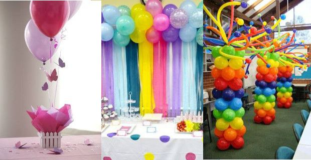 Ideas para decorar con globos una fiesta infantil for Decoracion de bombas para bautizo