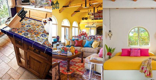 decoracion de interiores estilo rustico mexicano:Ideas de decoración de estilo mexicano colonial y moderno