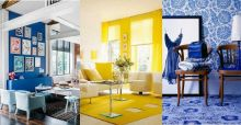 Tendencia de color para decoración de interiores 2014: Azul Klein y Amarillo Freesia