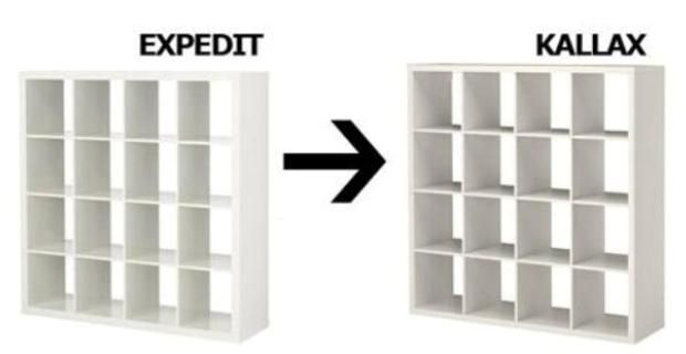Alternativas expedit ikea librer a y estanter a kallax y - Mueble libreria ikea ...