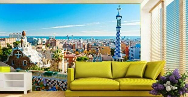 Fotomurales de pared decorativos tendencia en decoraci n 2014 - Fotomurales adhesivos pared ...