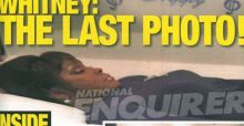 La última foto de Whitney Houston durante su funeral en el National Enquirer
